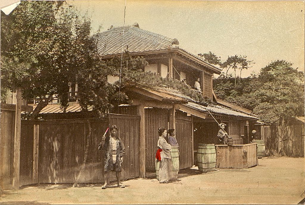 file tea house in japan  1909 jpg