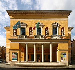 Teatro Comunale Alighieri - Entrance and main facade