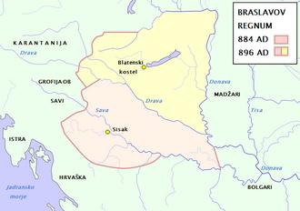 Braslav, Duke of Lower Pannonia - Territory governed by Braslav