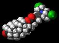 Testifenon molecule spacefill.png