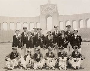 1932 Summer Olympics - The Australian Olympic Team at the Olympic Stadium, Los Angeles, 1932