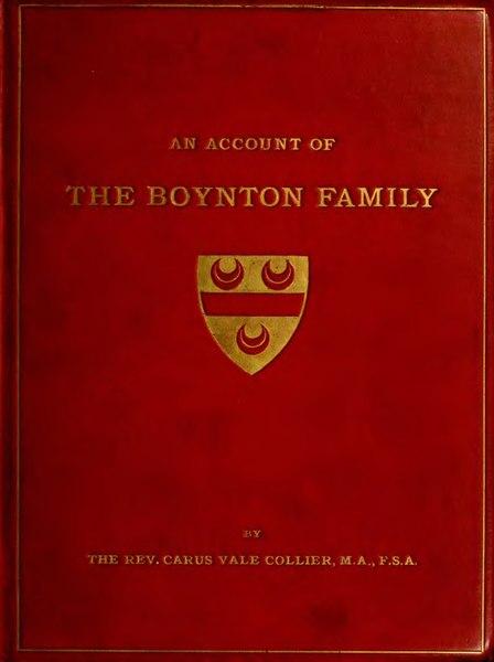 File:The Boynton family and the family seat of Burton Agnes.djvu