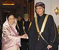 The Deputy Prime Minister of Sultanate of Oman, Mr. Sayyid Fahad Bin Mahmood Al Said calls on the President, Smt. Pratibha Devisingh Patil, in New Delhi on December 14, 2007.jpg