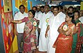 The District Collector of Karur, Smt. V. Shobana visiting the exhibition of Red Ribbon Express arrived in Karur, Tamil Nadu on May 15, 2012.jpg
