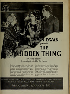 <i>The Forbidden Thing</i> 1920 film by Allan Dwan