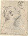 The Head and Shoulders of a Woman in Profile; Separate Studies of Her Head and Ear (recto); Fragment of Drapery Study, Profile of Architectural Molding (verso). MET DP123325.jpg