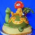 The Lion and the Turtle Cake.JPG