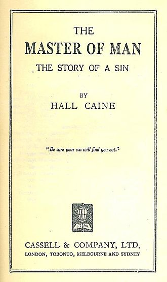 The Master of Man - The title page of the 1924 Cassell & Co. reprint