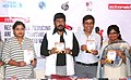 """The Minister of State for Social Justice & Empowerment, Shri Ramdas Athawale releasing a book on """"Women's Unpaid Work"""", at the seminar on """"Recognizing, Reducing and Redistributing Women's Unpaid Work"""", in Mumbai.jpg"""