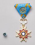 The Order of the Sacred Treasure, Gold Rays with Rosette.png