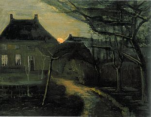 The Parsonage at Nuenen at Dusk, Seen from the Back