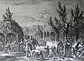 The Phillip Medhurst Picture Torah 552. Building booths. Leviticus cap 23 vv 39-43. Caspar Luyken.jpg