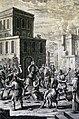 The Phillip Medhurst Picture Torah 606. Stoning an offender. Deuteronomy cap 22 vv 20-21. Tyroff.jpg
