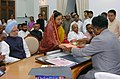 The Prime Minister, Dr. Manmohan Singh, witnessing filing of nomination papers for Presidential Election by Smt. Pratibha Patil in Parliament House, New Delhi on June 23, 2007 (1).jpg