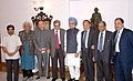 The Prime Minister, Dr. Manmohan Singh with the members of Nalanda Mentor Group led by Prof. Amartya Sen, in New Delhi on August 13, 2008.jpg