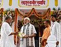 The Prime Minister, Shri Narendra Modi at Samadhi of the great saint and poet, Kabir, at Maghar, in Sant Kabir Nagar district of Uttar Pradesh.JPG