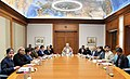 The Prime Minister, Shri Narendra Modi chairing the high-level review meeting on the progress and efforts being made to prevent and reduce under-nutrition and related problems in India, in New Delhi on November 24, 2017.jpg