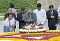 The Prime Minister of Japan, Mr. Junichiro Koizumi paying tributes to Mahatma Gandhi at his Samadhi at Rajghat in Delhi on April 29, 2005.jpg