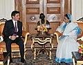 The Prime Minister of Thailand, Mr. Abhisit Vejjajiva meeting the President, Smt. Pratibha Devisingh Patil, in New Delhi on April 05, 2011.jpg