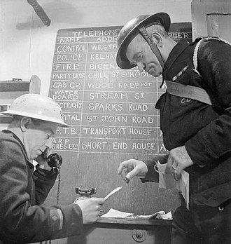 Air Raid Precautions in the United Kingdom - Civil Defence training exercise in Fulham, London, 1942