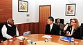 The Regional Director, ILO for Asia and the Pacific, Mr. Yoshiteru Uramoto meeting the Union Minister for Labour and Employment, Shri Mallikarjun Kharge, in New Delhi on February 13, 2013.jpg