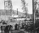 The S.S. Peace River at a Wood Pile on the Peace River.jpg