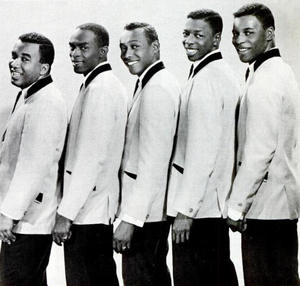 The Spinners (American R&B group) - The Spinners in 1965. From left to right: Billy Henderson, Edgar Edwards, Bobby Smith, Henry Fambrough, and Pervis Jackson.