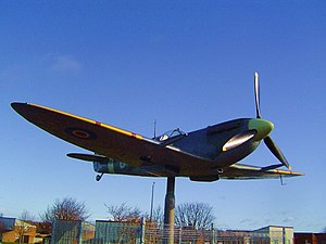 RAF Thornaby - The Spitfire on Thornaby Road