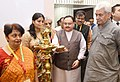 The Union Minister for Health & Family Welfare, Shri J.P. Nadda lighting the lamp at the launch of the National Viral Hepatitis Control Program, on the occasion of the 'World Hepatitis Day', in New Delhi.JPG