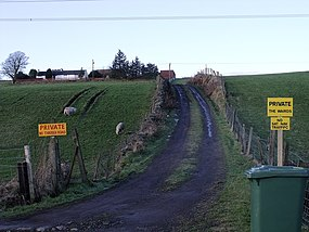 The Wairds farm approaches (geograph 1668901).jpg