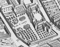 The grounds of the Hôtel de Conti (built by Louise Élisabeth de Bourbon, present Hôtel de Brienne) from the Turgot map of Paris circa 1737.png