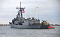 The guided missile frigate USS Taylor (FFG 50) departs Naval Station Mayport, Fla 140108-N-MJ645-055.jpg