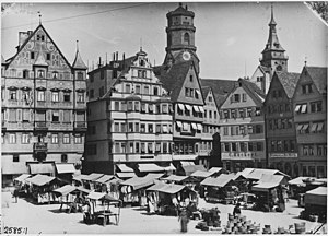 The old Market Place, Stuttgart