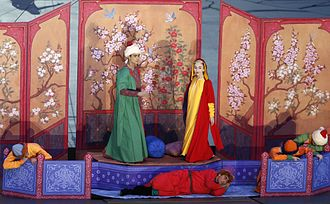 Layla and Majnun - Layla and Majnun at the opening ceremony of the 2015 European Games in Baku.