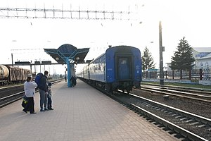 The railway station Baranavichy - Central, Vilchousky str., Baramovichi city, Baranavichy Raion, Brest Region, Republic of Belarus 03.JPG