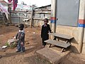 The stairs of a urine-diverting dry toilet (UDDT) in low-income area Bulbul near Nairobi, Kenya (10543466835).jpg