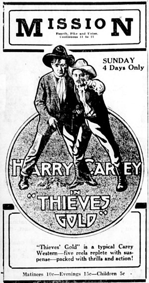 Thieves' Gold - Newspaper advertisement