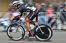 Thor Hushovd impegnato al Tour of California del 2009, prima gara con la maglia della Cervélo TestTeam.