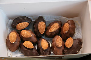 Thorntons chocolate marzipan (milk chocolate a...