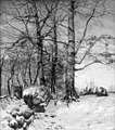 Thorvald Niss - Fra Folehaven. Et stengærde ved et skovbryn - KMS1219 - Statens Museum for Kunst.jpg