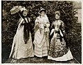 Three women in costume at Founders' Day Ball, Seattle, November 1912 (MOHAI 9043).jpg