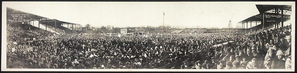 Tiger Stadium Demonstration 1920