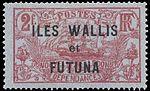 Timbre Wallis et Futuna 1920 - 2 francs.jpg
