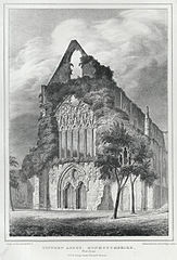 Tintern Abbey, Monmouthshire. West Front