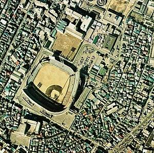 Tokyo Stadium (baseball) - Tokyo Stadium in 1974