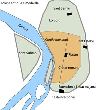 County of Toulouse - The town in early Middle-age