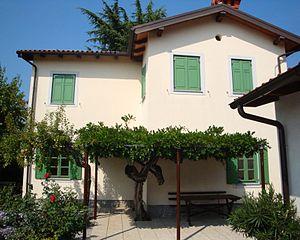 Srečko Kosovel - The house in Tomaj where Kosovel spent his childhood
