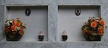 La tomba del poeta Caproni e della moglie a Loco di Rovegno