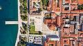 Top-down aerial of the Roman Forum in Zadar, Croatia (48607317703).jpg