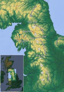 Pennines Range of uplands in Northern England